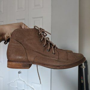 Sam Edelman Tan Mare Lace-Up Ankle Boots / Booties